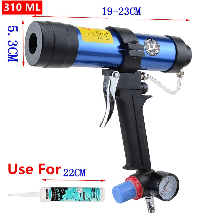 310ml Pneumatic Caulking Gun Glass Glue Air Rubber Guns Tool Caulking Gun Glass Glue tools цена