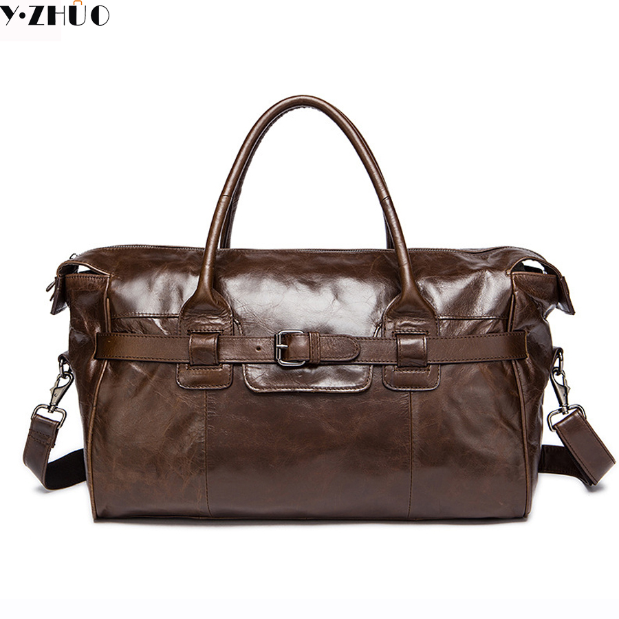 cowhide men travel bag genuine leather business bag handbags men messenger duffel bag brown men shoulder crossbody bags men business travel crossbody shoulder handbags bag luxury style messenger bag high quality large capacity genuine leather bags