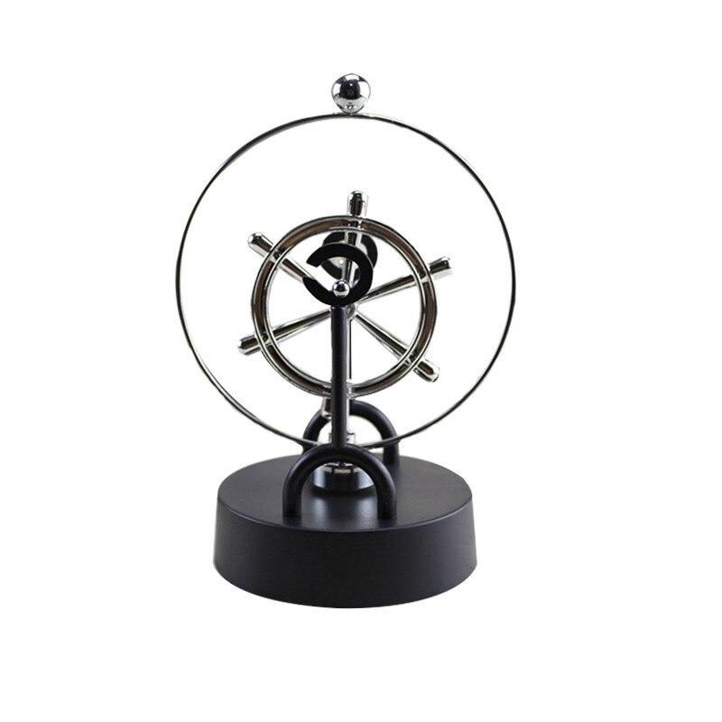 4 Typ Einfache Metall Elektromagnetische Pendel Perpetual Instrument Modell Figur Startseite Desktop Büro Dekoration Miniaturen Geschenk Haus & Garten