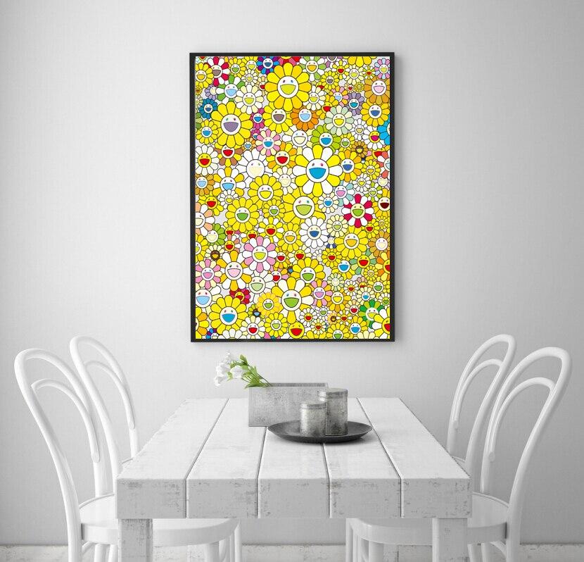 Printing decorative painting art Takashi Murakami sunflowers ...