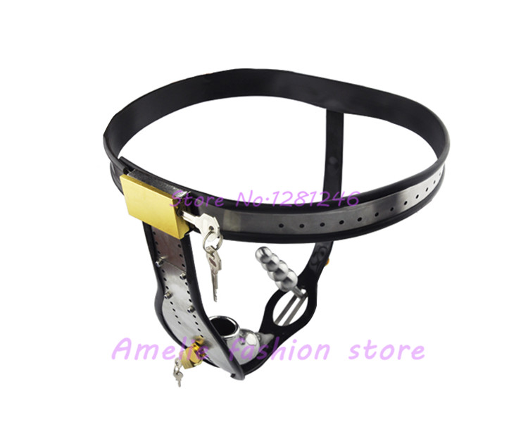 ФОТО Stainless Steel Male Underwear Chastity Cage with Anal Plug,Chastity Belt,Chastity Device,Cock Cage,Penis Lock