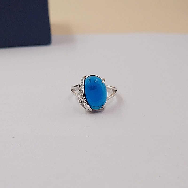 Classic blue Zirconia cubic zirconia แหวนรูปไข่ Cabochon หลวมหิน 6 รังสีหลวม Zircon สำหรับเครื่องประดับปีกแหวน