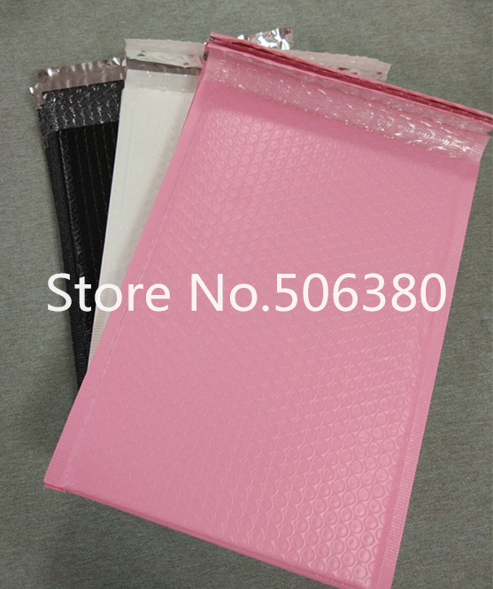 [40pcs] Big Sale!! 260*320mm Usable Space Poly Bubble Mailer Envelopes Padded Mailing Bag Self Sealing Pink&Black