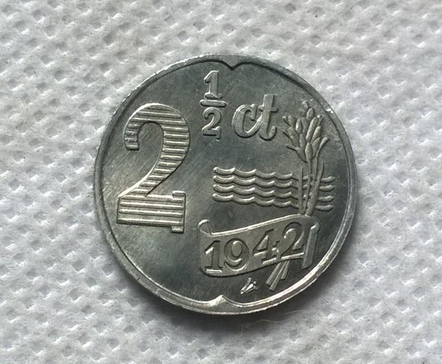1942 Niederlande 2 12 Cent Kopienmünzen Replik Münzen Medaille