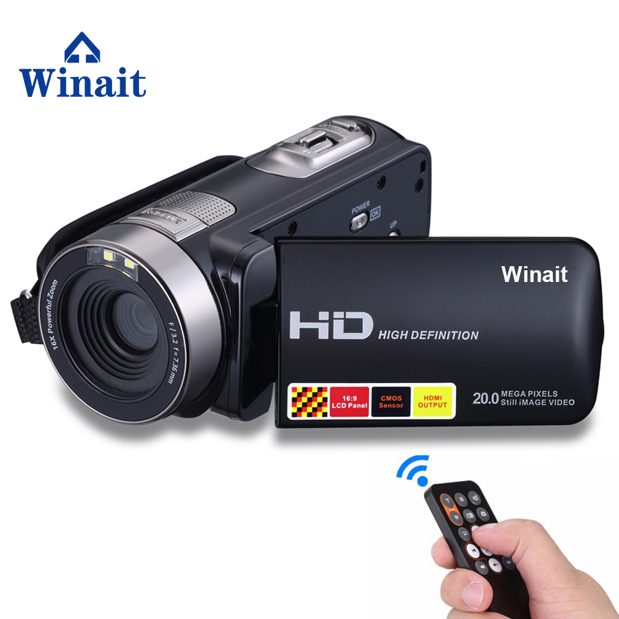 winait 24 mp mini dv, home use night vision digital video camera with 3.0'' touch display and 16x digital zoom digital camcorder winait electronic image stabilization hdv z8 digital video camera with recording function touch screen