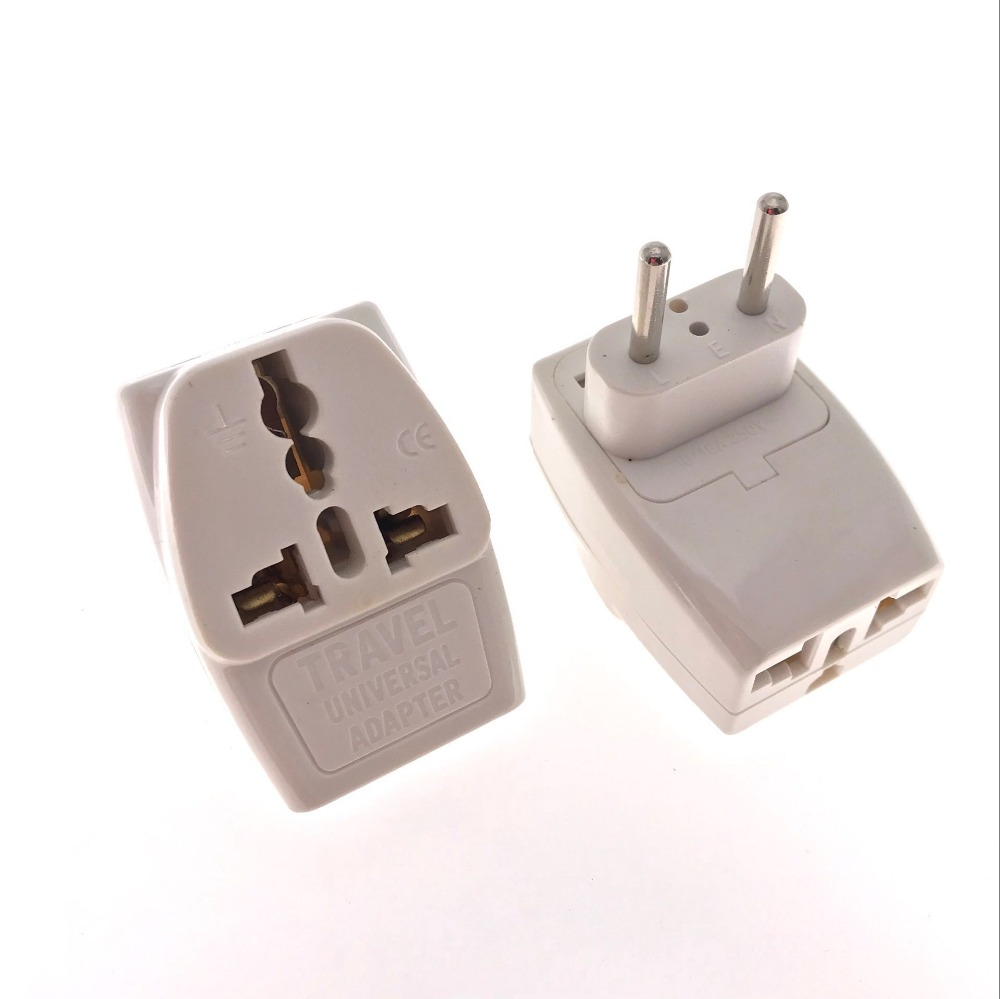 1 TO 3 Universal Travel Adapter US AU UK CN to EU Plug Travel Wall AC Power Adapter 250V 10/16A Socket Converter 2 PIN White блузка quelle venca 1004550