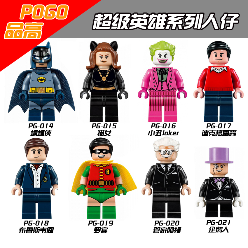 LegoINGly  Building Blocks Super Heroes Batman Classic TV Series-Batmancave Robin Alfred Penguin Collection Toys