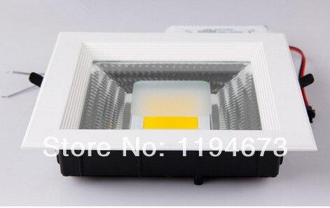 Бесплатная доставка площади удара светодиодные светильники 30 Вт встраиваемые светодиодные 85 ~ 265 В супер яркий ce rohs Гарантия 3 года