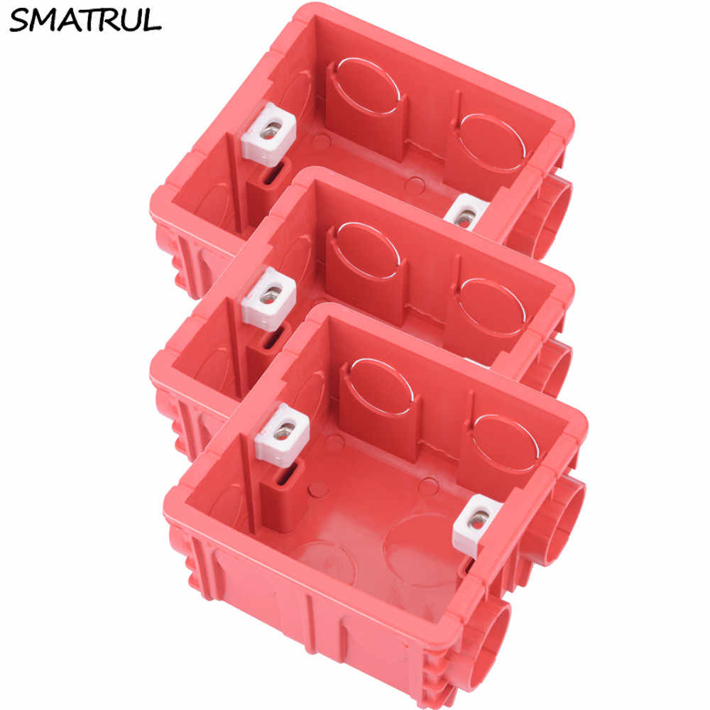 SMATRUL Adjustable Mounting Dark Box Internal Cassette 86 Type Switch Socket Wiring Back Box Ducts Electrical Accessories