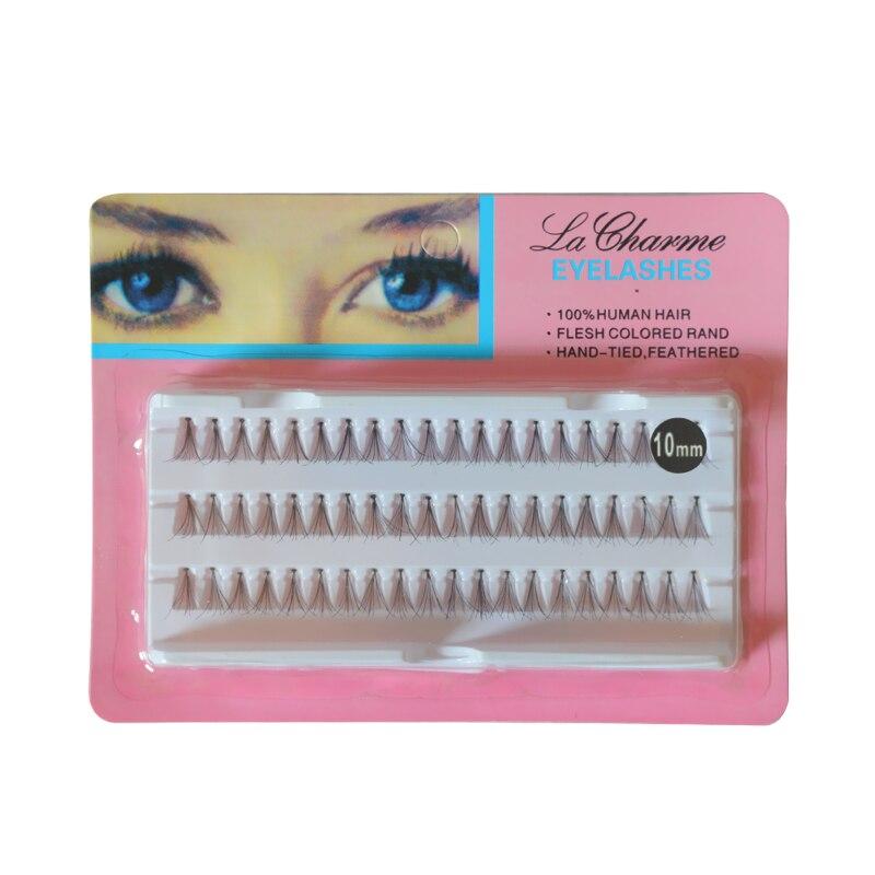 60pcs/Set 8/10/12 mm Individual Lashe Black 6D Natural Fake False Eyelash Long Cluster Extension Makeup Beauty Health