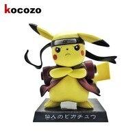 Kawaii Pikachu Cos Naruto Action Figure Cute Figure Pikachu Cos Sennin Doll PVC ACGN Figure Garage Kit Toy Brinquedos