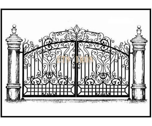 Home Design Gate Ideas: Gorgeous Iron Main Gate Design-in Gates From Home