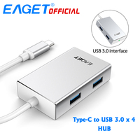 EAGET CH11 Type C To 4 USB 3 0 HUB Multifunctional Docking Station Hubs Connect For