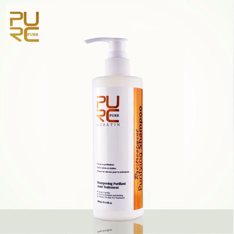 PURC Purifying Shampoo Keratin Hair Treatment Deep Cleaning Shampoo 300ml Hot Sale Free Shipping Hair Salon Products PURE