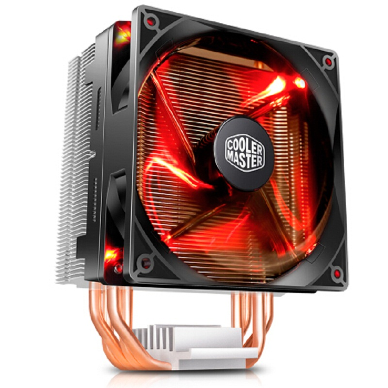 Cooler Master T400i 4 Copper Heatpipes CPU cooler for Intel 775 115X 1366 2011 CPU radiator 120mm 4pin cooling CPU fan PC quiet akasa 120mm ultra quiet 4pin pwm cooling fan cpu cooler 4 copper heatpipe radiator for intel lga775 115x 1366 for amd am2 am3