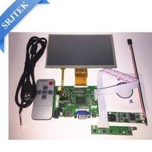 """7 """"дюймовый ЖК-дисплей Панель цифровой ЖК-дисплей Экран + сенсорный экран и привод доска (HDMI + VGA + 2AV) для Raspberry Pi Pcduino Cubieboard (1024*600)"""