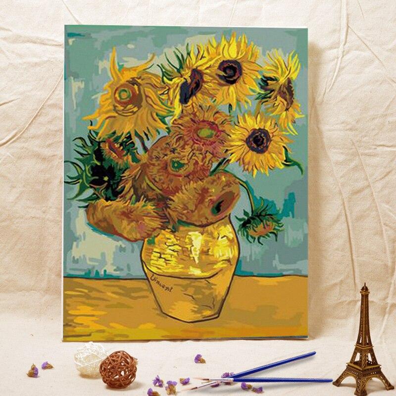 Dessin de tournesol promotion achetez des dessin de tournesol promotionnels sur - Peinture a l huile van gogh ...