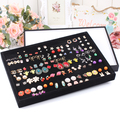 Fashion earrings tray jewelry display earrings holder storage organizer with good craft and quality made of PU and suede