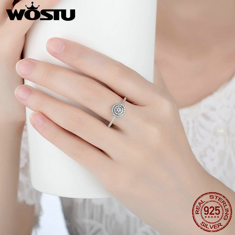 5c242d38f 100% Real 925 Sterling Silver Radiant Elegance Rings With Sparkling Clear  CZ Compatible With Original Pan Ring Jewelry SDP7178-in Rings from Jewelry  ...