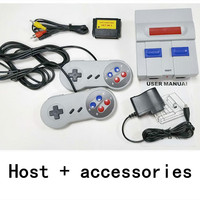 16 bits classic nostalgic game console sUPER host with two gamepad gift games card AV mini TV retro home handheld controller 2