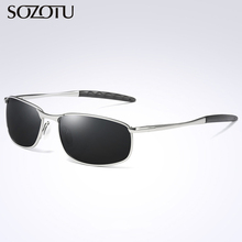 Fashion Aviation Polarized Sunglasses Men Driver Pilot Sun G