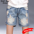 Mid Waist Washed Denim Shorts Oversize Hot Denim Shorts For  Women Plus Size Feminino Big Plus Size Xxxl 3Xl 36 38 40 Xxxxl 7XL