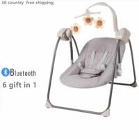 Balanço do bebê elétrica Seguranças  Jumpers & Swings cadeira de balanço do bebê berço cadeira reclinável com shake cama do bebê chupeta do bebê cesta