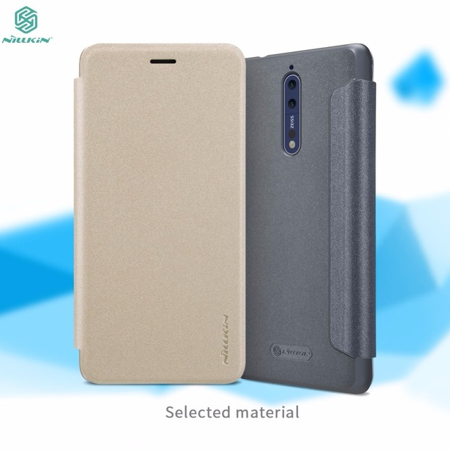size 40 27595 39509 US $7.0 16% OFF Lid Case For Nokia 8 cover NILLKIN Sparkle PU Leather Flip  Cover Case For Nokia 8-in Flip Cases from Cellphones & Telecommunications  ...