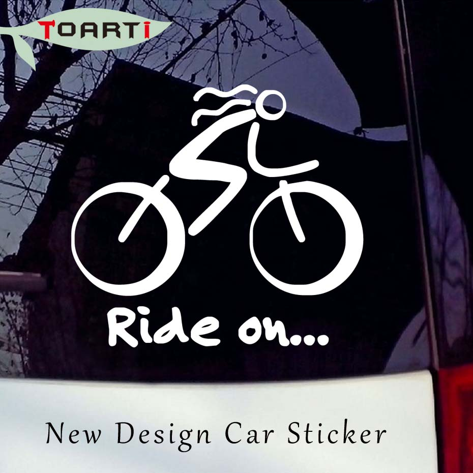 12 711 5cm bike sticker bicycle sport biking bike cycling car window sticker sign vinyl removable waterproof auto decals in car stickers from automobiles