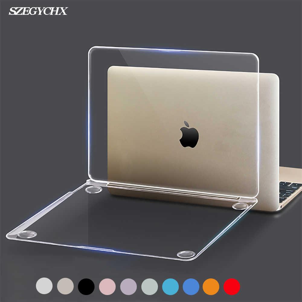 Cristal dur ordinateur portable étui pour Macbook Pro 16 A2141 2019 Touch ID A1932 couverture pour Macbook Air 13 A1466 A1369 Pro Retina 12 13 15