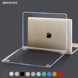 Cristal duro funda de portátil para MacBook Pro 16 A2141 2019 ID táctil A1932 cubierta para Macbook Air 13 A1466 A1369 Pro Retina 12 13 15