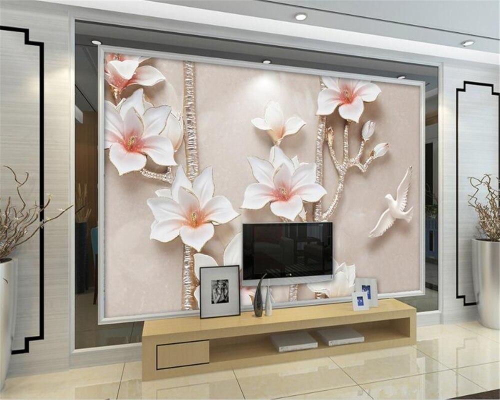 Tv Muur Decoratie.Beibehang 3d Behang Europese En Amerikaanse Stijl 3d Stereo