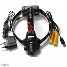 2000Lm Impermeable DEL CREE XML L2 U2 Zoom LED Zoomable Ajustan El Faro de la Lámpara de Luz Para Bicicleta de Excursión Que Acampa