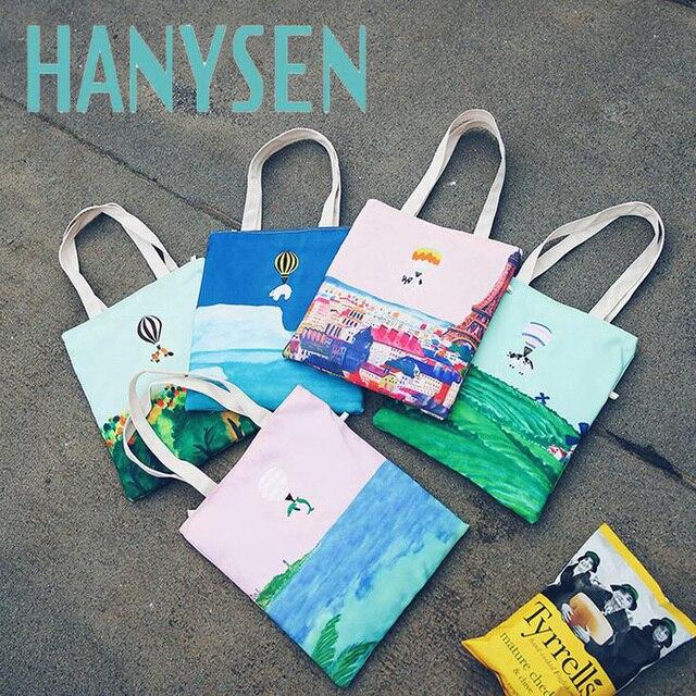 hanysen 2017 summer new fashion lovely cartoon printing korean