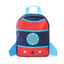 Under Nineteen Rocket Children Backpacks Kids Kindergarten School Bags Baby Boys Girls Nursery Toddler Cute Rucksack