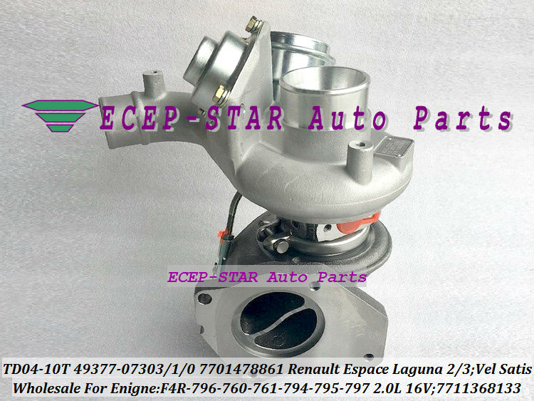 TD04-10T-8.5 49377-07303 49377-07301 49377-07300 7701478861 7711368133 Turbo For Renault Espace Laguna 2 3 Vel Satis 2001- F4R 796 2.0L 16V (1)