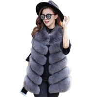 2018 Winter Warm Women Vest fur New Arrival Fashion Women Import Coat Fur sleeveless Vest High Grade Slim fit Faux Fur Coat