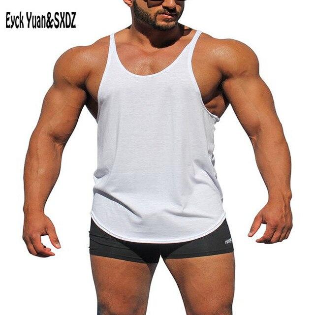 d65ee24f7df8a3 Gymshark Hot Men Tank Top Solid Golds Singlets Bodybuilding Tank Tops  Fitness Men Equipment Stringer Undershirt Canotta Vest