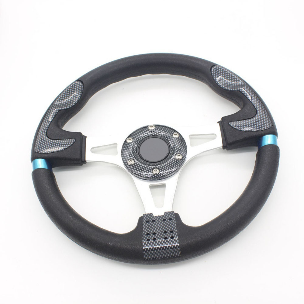 "Фотография Dongzhen 16"" Carbon Fiber Steering Wheel Ultra-lightweight PU 320MM fit for MOMO Sport Steering Wheel Racing Auto Car-Styling"