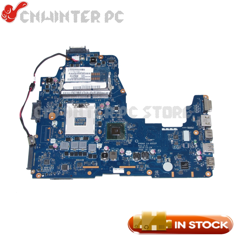 NOKOTION K000125610 Laptop Motherboard For Toshiba Satellite A660 A665 MAIN BOARD PHQAA LA-6832P HM65 UMA DDR3 schuller потолочный светильник espiral