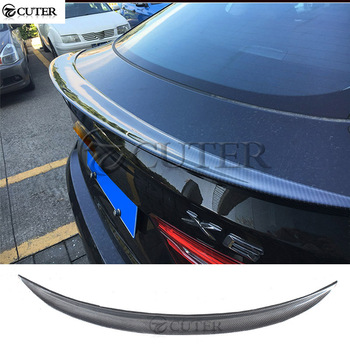 New X6 F16 M style Carbon Fiber Rear wings trunk Lip spoiler for BMW F16 X6 car body kit image