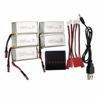 Lithium Battery for SYMA X56 X56W X54HW 5PCS 3.7V 850mah with 5 in 1 Charger Foldable Quadcopter Accessories