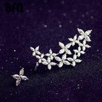 BFQ Mode zoete bloemen cluster zirconia oorbellen voor vrouwen gorgeous party oorbellen orecchini pendientes largos