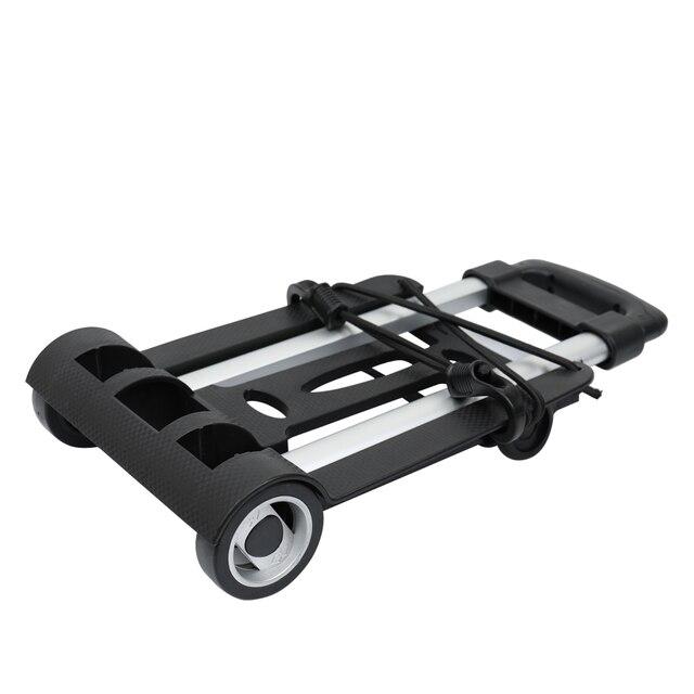 נייד מתקפל שני-מזוודות גלגלים קניות נסיעות עגלת קרוואן עגלת בארו יד כלים