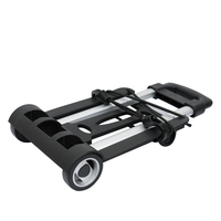 Portable Foldable Two wheeled Luggage Shopping Travel Cart Flatbed Trailer Trolley Barrow Hand Tools