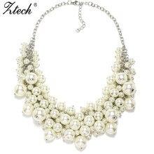 Nouvelle Arrivée de mode chunky de bulle de luxe simulé perle pendentif choker Collier déclaration Collier collier bijoux pour femmes