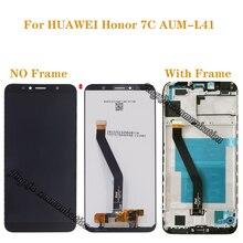 """Novo 5.7 """"LCD para Huawei Honor 7C Aum L41 componentes com quadro display LCD + touch screen digitador de peças de reparo + ferramentas"""
