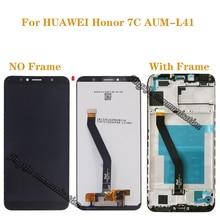 """Nuovo 5.7 """"LCD per Huawei Honor 7C componenti di Aum L41 LCD + di tocco digitale dello schermo con cornice del display parti di riparazione + strumenti"""
