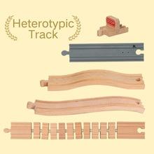 Lekool Томас Брио специальный трек деревянный поезд треки подходит для brio деревянная игрушка магнитные поезда мальчик/Детская игрушка Рождественский подарок