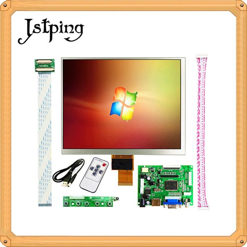 Jstping 8 pouces IPS 1024*768 tablette HD écran LCD affichage HJ080IA-01E HE080IA-01D carte pilote moniteur de contrôle HDMI pour Raspberry